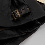Shangri La Heritage Cafe Racer Leather Jacket - Black 5