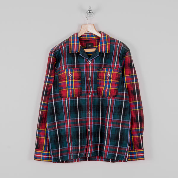 Obey Capital Woven Shirt - Deep Teal Multi 1