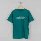 Obey Ceremony Tee Teal 1