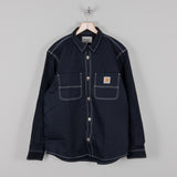 Carhartt WIP Chalk Shirt - Navy Rigid