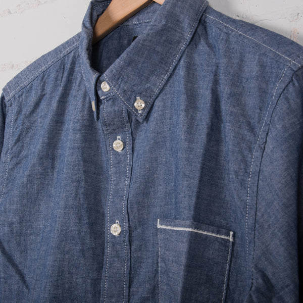 Lee Button Down Shirt Blue Book Detail