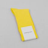 Democratique Champagne Pique Sock - Bright Yellow1