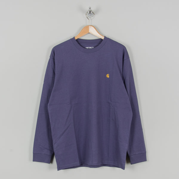 Carhartt WIP Chase L/S Tee - Cold Viola / Gold 1