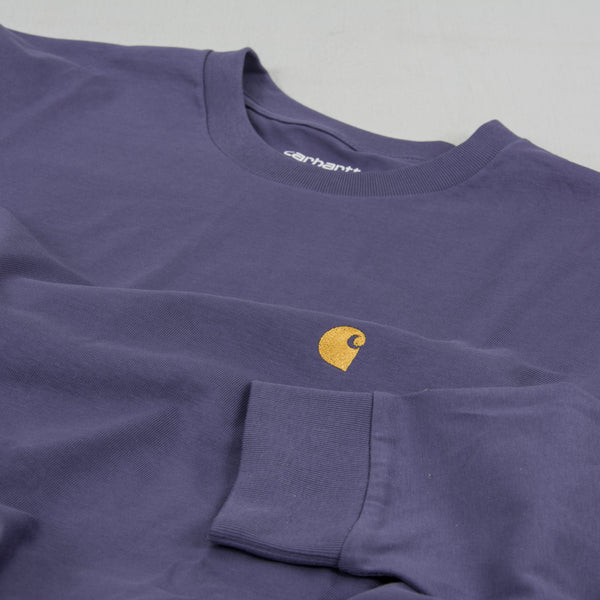 Carhartt WIP Chase L/S Tee - Cold Viola / Gold 2