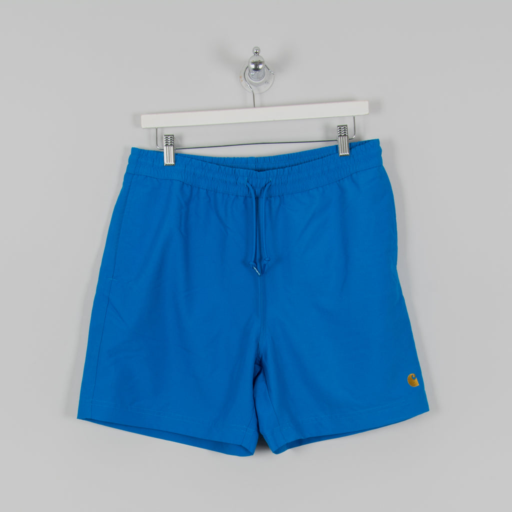 Carhartt WIP Chase Swim Trunks - Azzuro / Gold 1