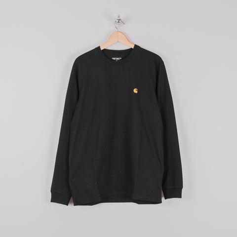 Carhartt Chase L/S Tee - Black / Gold