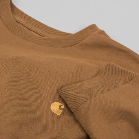 Carhartt Chase L/S Tee - Hamilton Brown / Gold