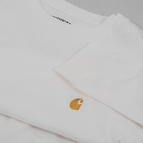 Carhartt Chase L/S Tee - White / Gold