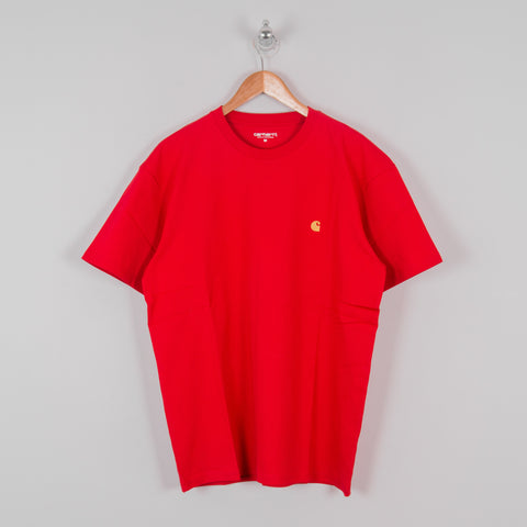 Carhartt WIP Chase S/S Tee - Etna Red 1