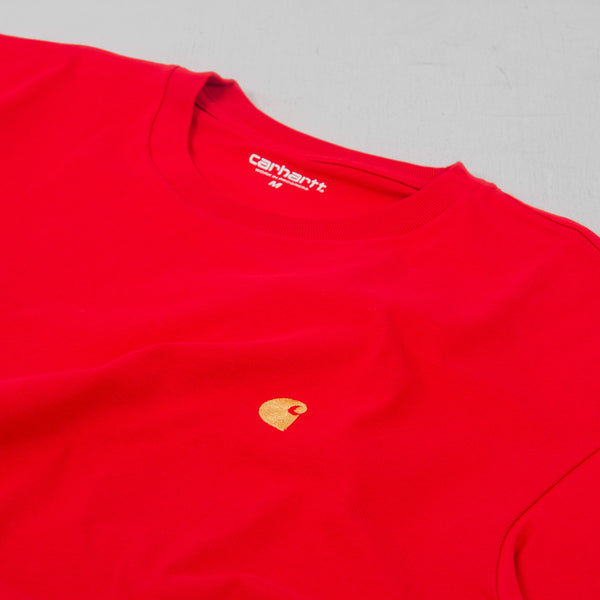 Carhartt WIP Chase S/S Tee - Etna Red 2