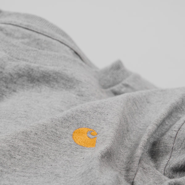 Carhartt S/S Chase Tee - Grey Heather / Gold