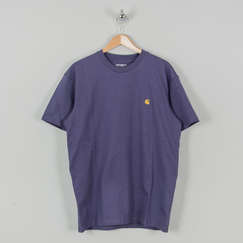 Carhartt WIP Chase S/S Tee - Cold Viola / Gold 1