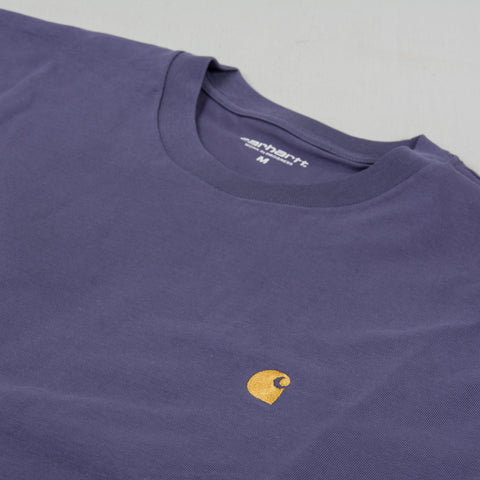 Carhartt WIP Chase S/S Tee - Cold Viola / Gold 2
