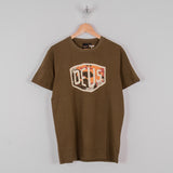 Deus ex Machina Chulo Shield Tee - Dark Olive 1