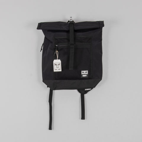Obey Conditions Roll Top Bag - Black 1