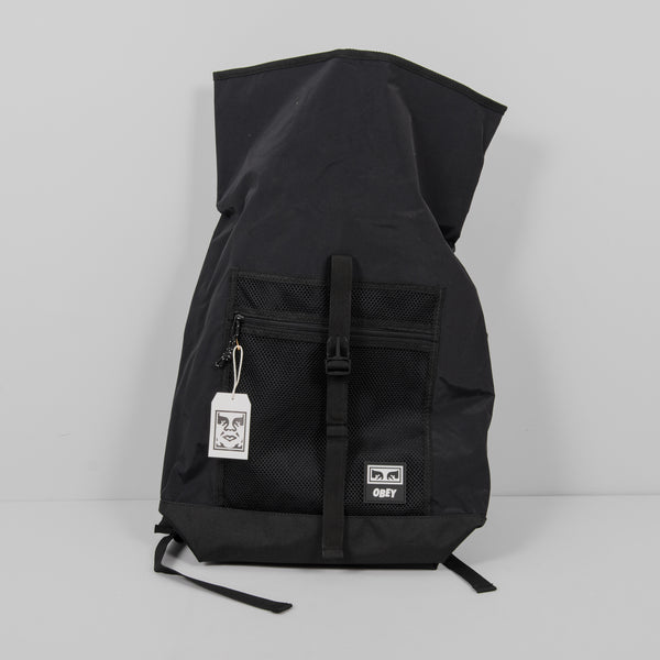 Obey Conditions Roll Top Bag - Black 4