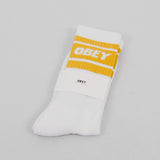 Obey Cooper II Socks - White / Golden Palm 1