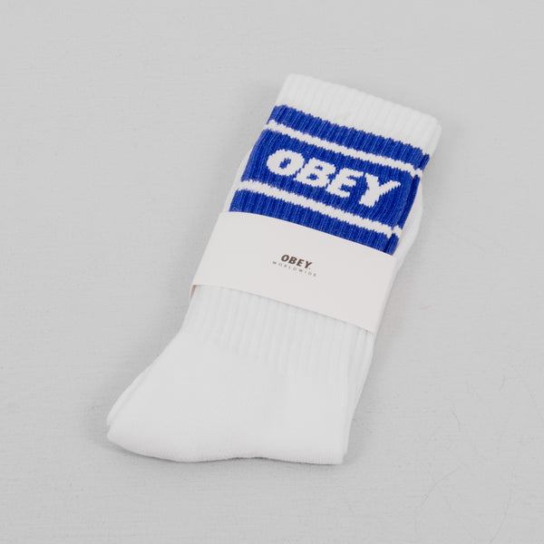 Obey Cooper II Socks - White / Ultramarine 1