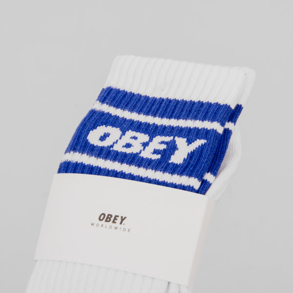 Obey Cooper II Socks - White / Ultramarine 2