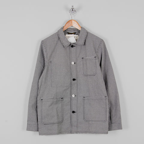Copy of Le Laboureur Cotton Work Jacket - Black/White Check 1