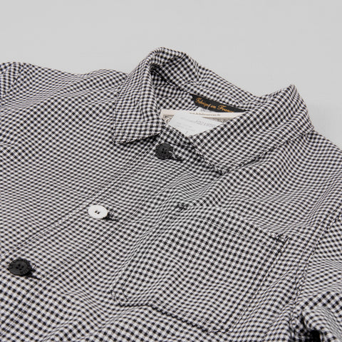 Copy of Le Laboureur Cotton Work Jacket - Black/White Check 2