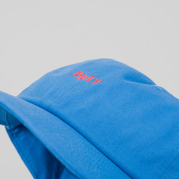 Obey Cutty 6 Panel Snap Back Cap - Bright Blue 2