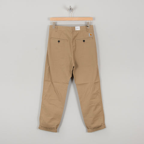 Carhartt WIP Menson Twill Pant - Leather 1