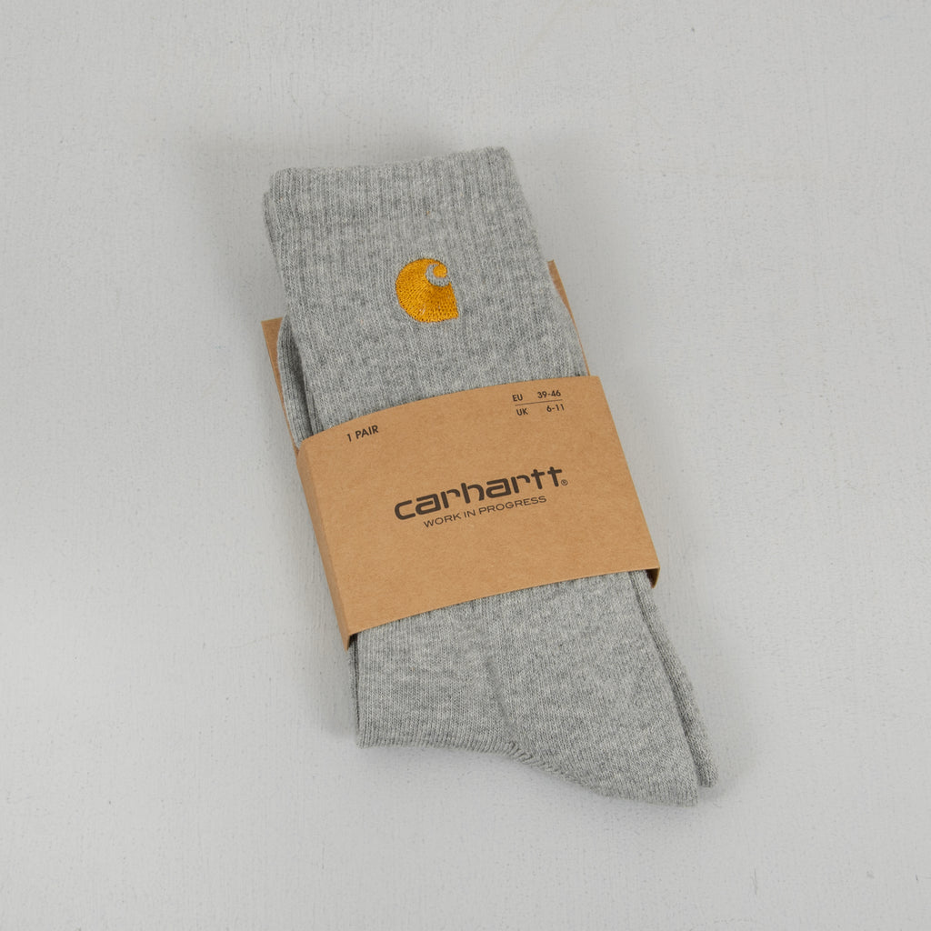 Carhartt WIP Chase Socks - Grey Heather /Gold 1