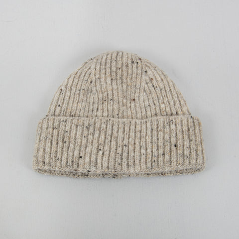 Donegal Wool Beanie - Light Grey 1