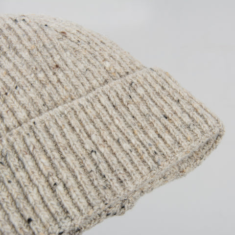Donegal Wool Beanie - Light Grey 2