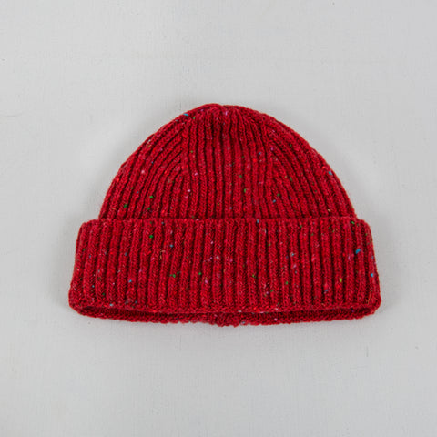 Donegal Wool Beanie - Red 1