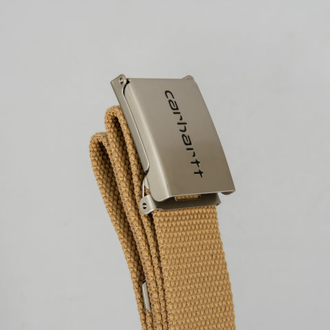 Carhartt WIP Clip Belt Chrome - Dusty Hamilton Brown 2