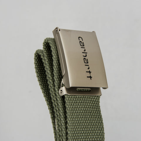 Carhartt WIP Clip Belt Chrome - Dollar Green 2
