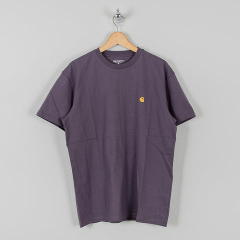 Carhartt WIP Chase S/S Tee - Provence / Gold 1