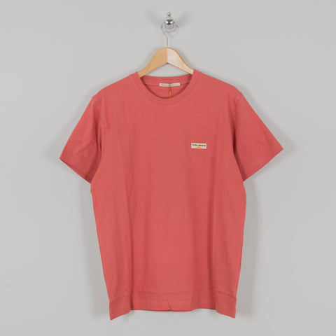 Nudie Daniel Logo Tee Dusty Red 1