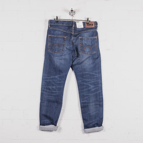 Edwin ED 55 Mid Used Wash Jean Back