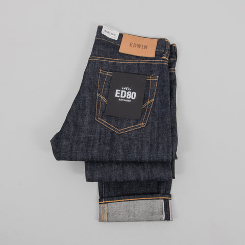 Edwin ED-80 Red Selvage Jeans - Dry 2