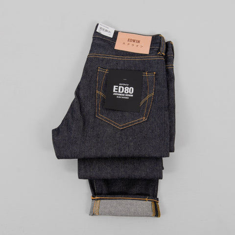 Edwin ED 80 Yoshiko Left Hand Denim Blue - Unwashed 2