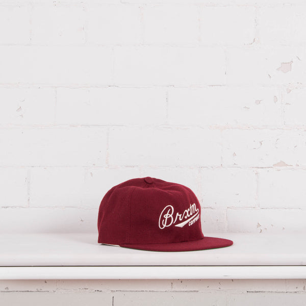 Brixton Fenway Six Panel Cap Burgundy Front