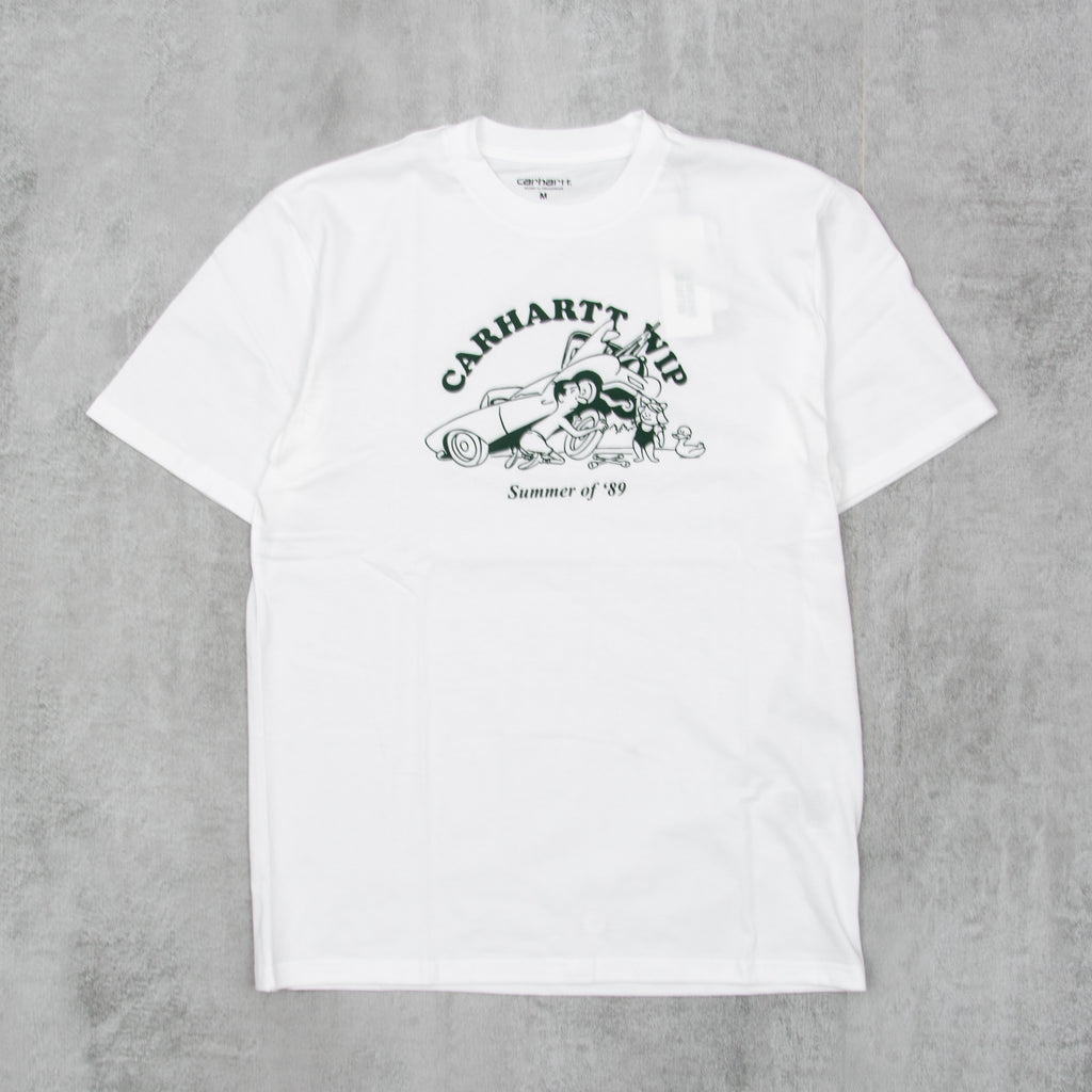 Carhartt WIP Flat Tire S/S Tee- White / Treehouse 1