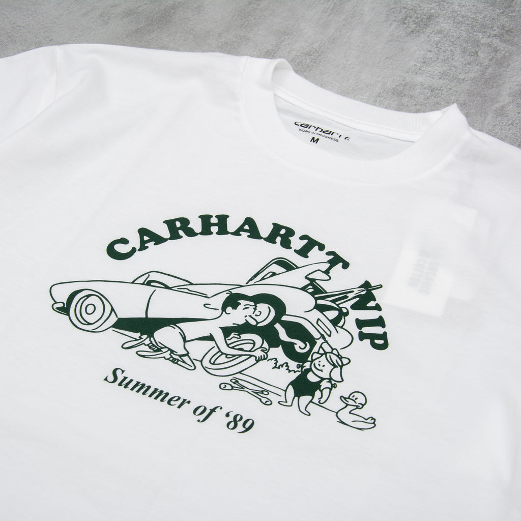 Carhartt WIP Flat Tire S/S Tee- White / Treehouse 2