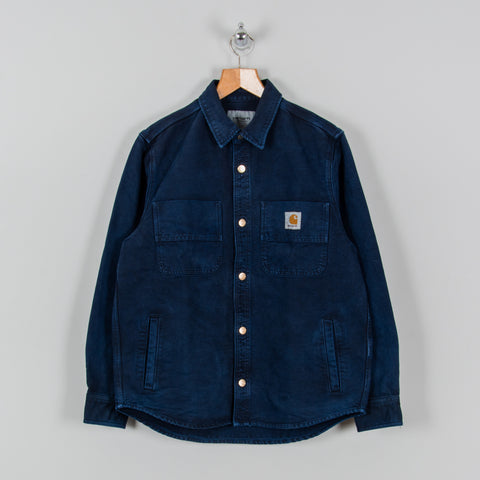 Carhartt WIP Glenn Shirt Jacket - Dark Navy Worn 1