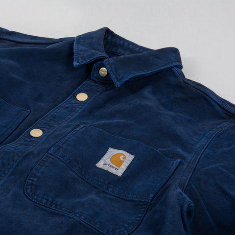 Carhartt WIP Glenn Shirt Jacket - Dark Navy Worn 2
