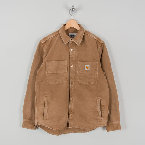 Carhartt WIP Glenn Shirt Jacket - Hamilton Brown Worn 1