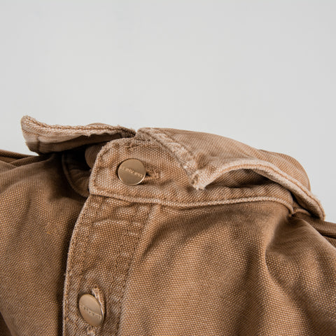 Carhartt WIP Glenn Shirt Jacket - Hamilton Brown Worn 2
