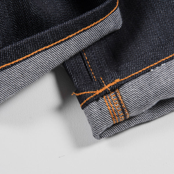 Nudie Grim Tim Dry Jean - Open Navy  Detail