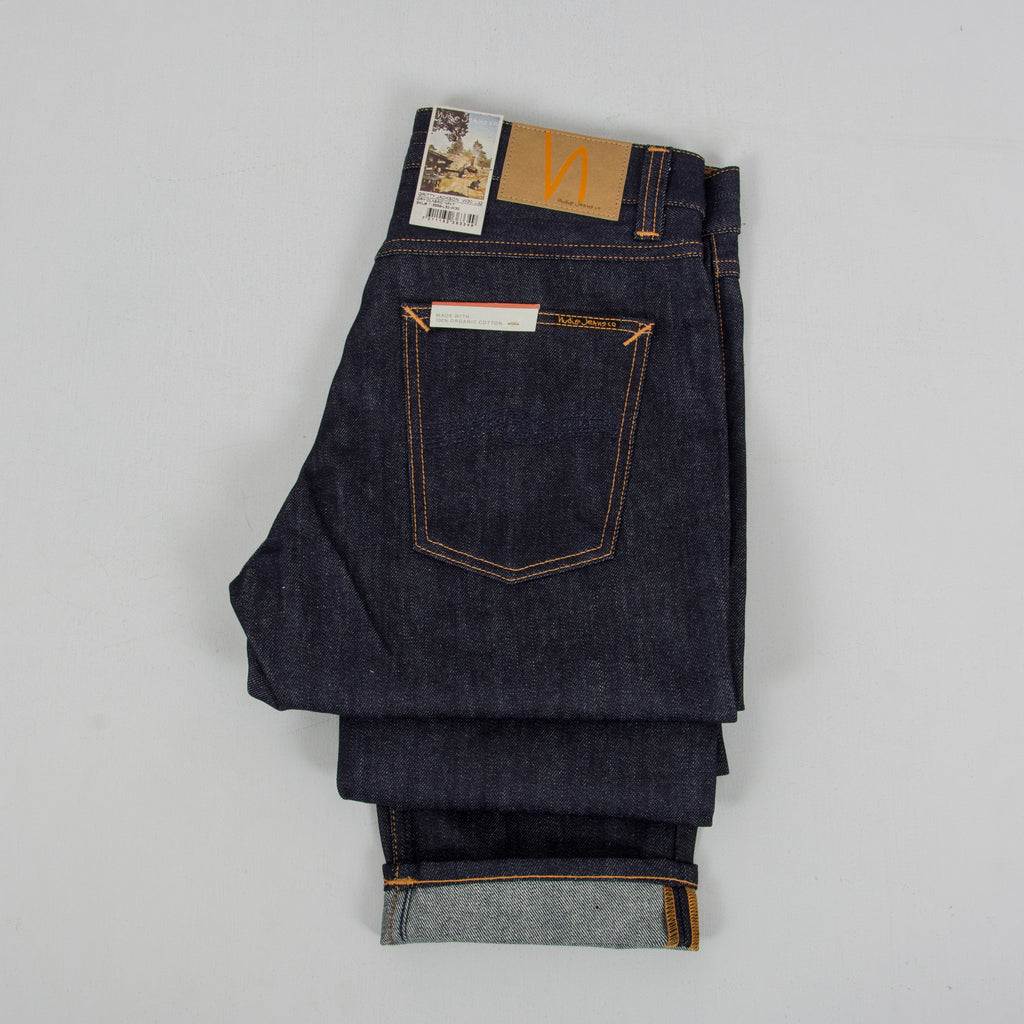 Nudie Gritty Jackson Jeans - Dry Classic Navy 2