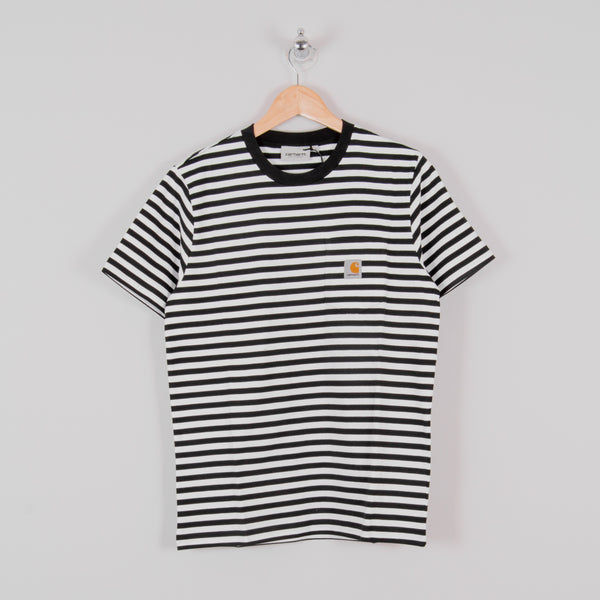 Carhartt WIP Haldon Pocket Stripe S/S Tee - Black / White 1