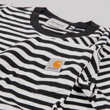 Carhartt WIP Haldon Pocket Stripe S/S Tee - Black / White 2