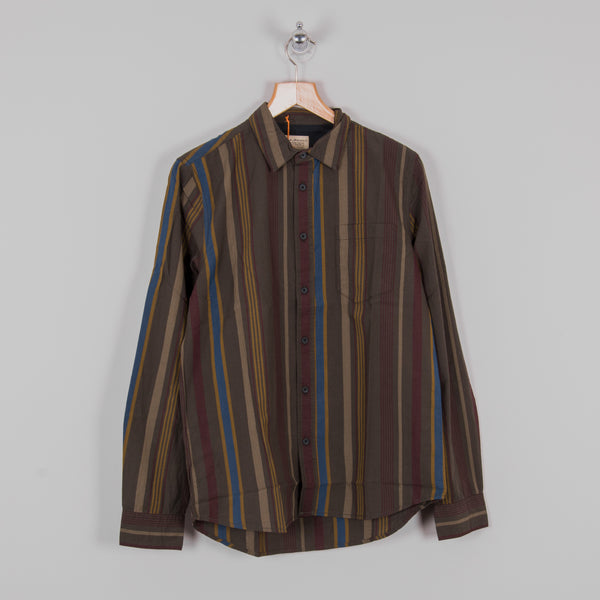 Nudie Henry Club Stripes Shirt - Bunker 1